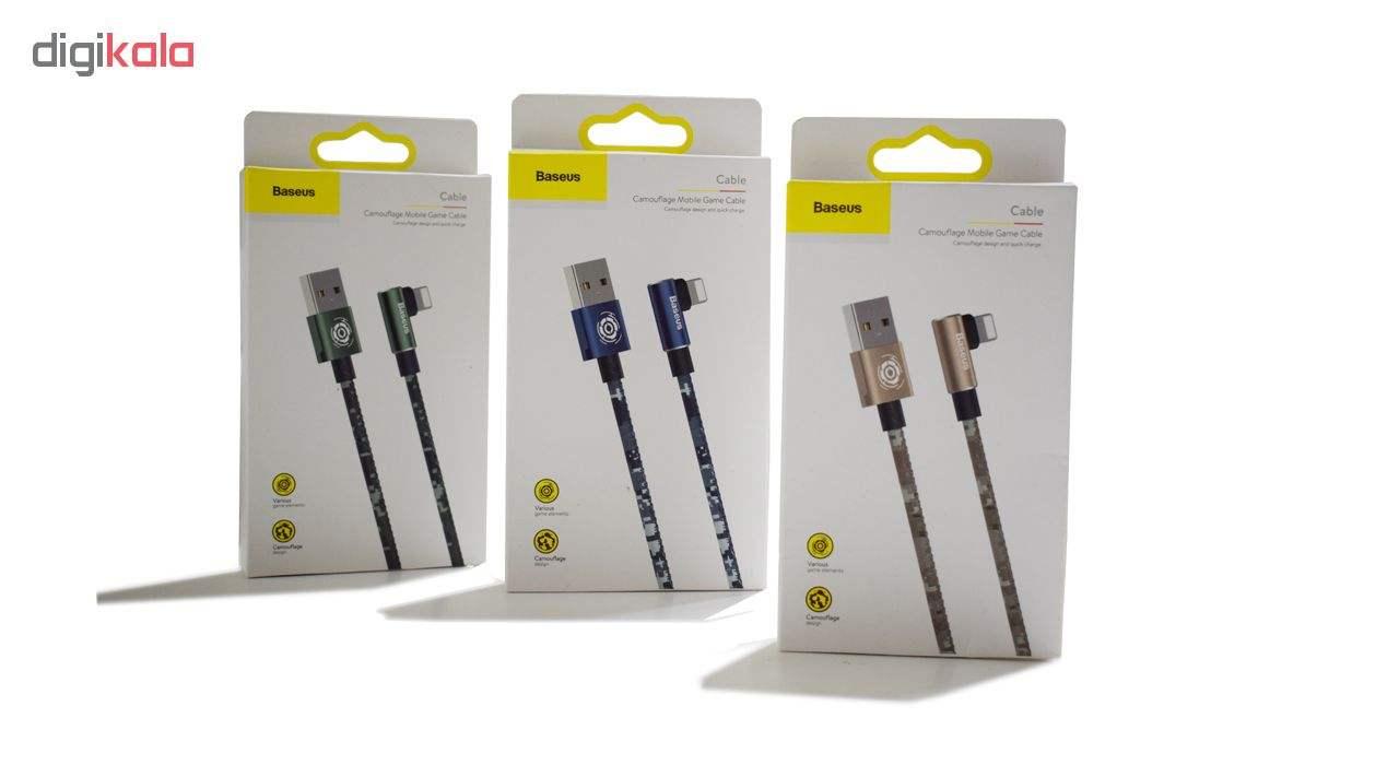 کابل تبدیل USB به لایتنینگ باسئوس مدل BC12 طرح Camoufage طول 2 متر main 1 9