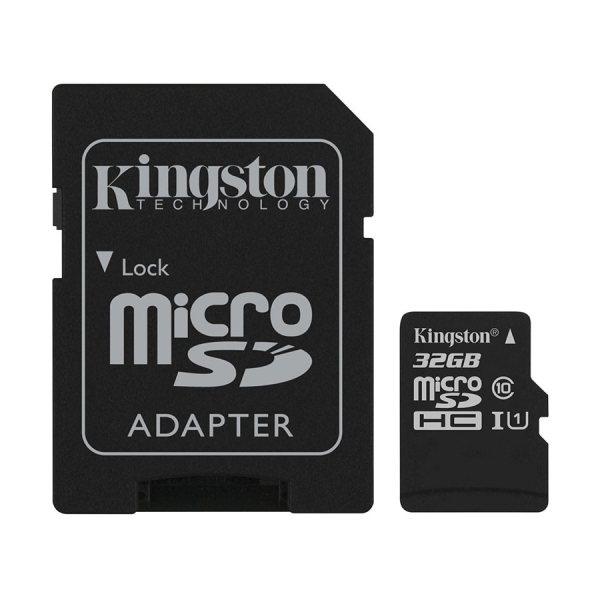 کارت حافظه microSDHC کینگستون مدل Canvas Select کلاس 10 استاندارد UHS-I U1 سرعت 80MBps ظرفیت 32 گیگابایت به همراه آداپتور SD