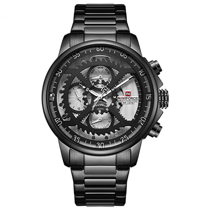 ساعت مچی عقربه ای مردانه نیوی فورس مدل NF9150M / ME-SE به همراه دستمال مخصوص نانو برند کلیر واچ