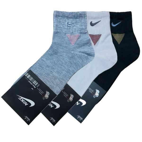 جوراب مردانه بسته ۳ عددی مدل MO101