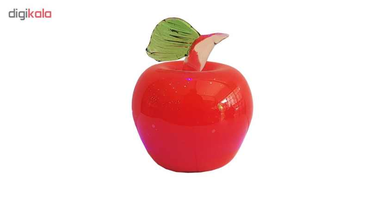 دکوری شیشه ای طرح سیب کد 665