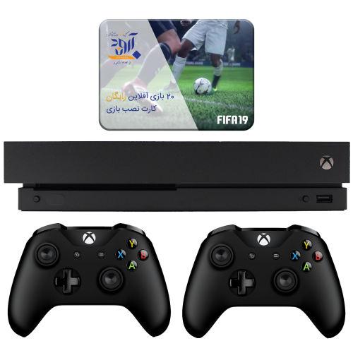 مجموعه کنسول بازی مایکروسافت مدل Xbox One X ظرفیت 1 ترابایت به همراه ۲۰ عدد بازی