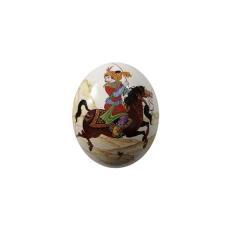 تخم شترمرغ تزئینی طرح بازی چوگان