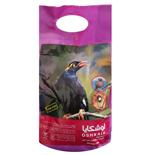 غذای خشک اوشکایا مناسب مرغ مینا و پرندگان حشره خوار مقدار 2.5 کیلوگرم