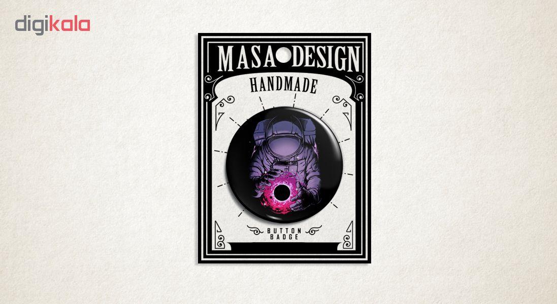 پیکسل ماسا دیزاین طرح فضانورد سیاره ماه کهکشان سیاه چاله کد AS421
