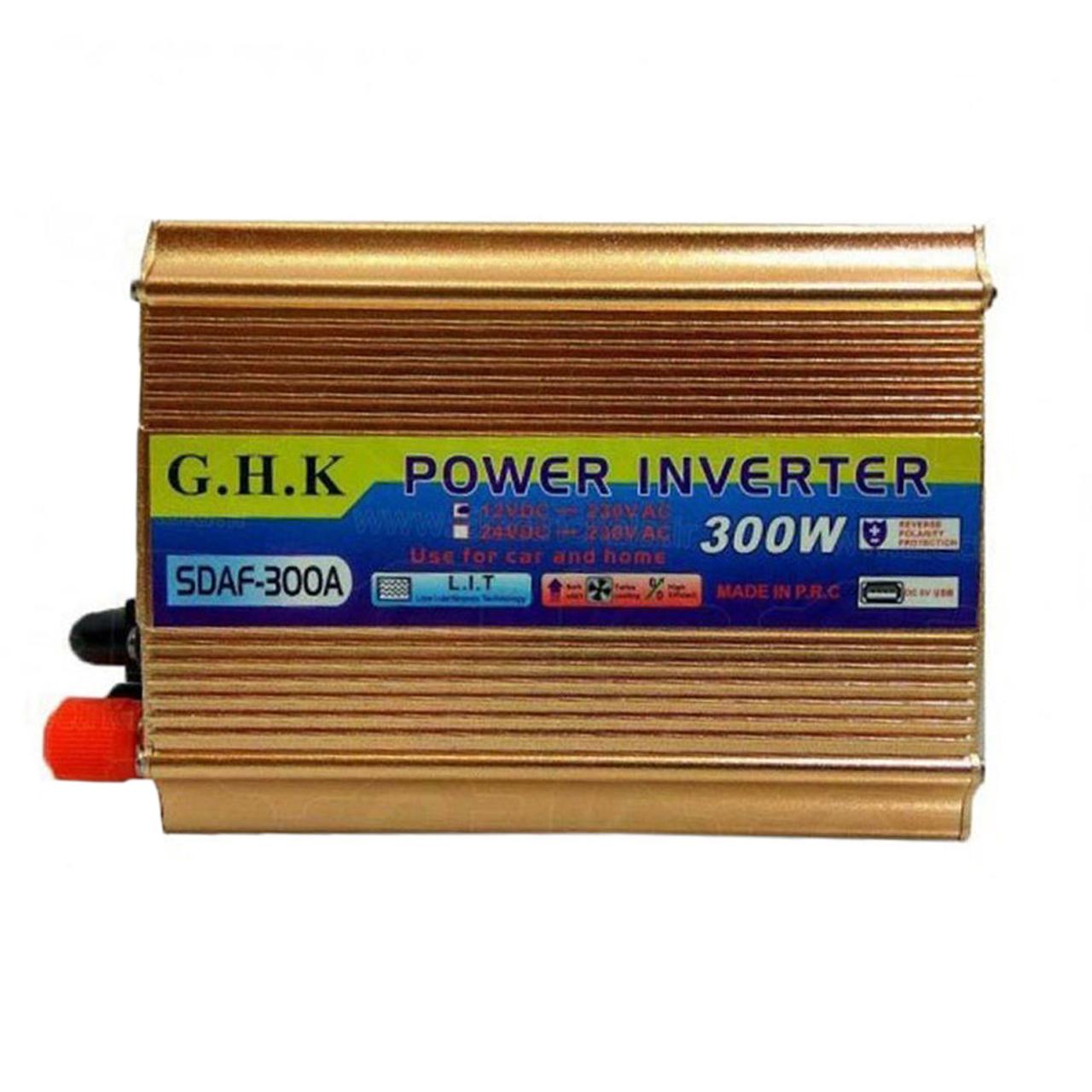 مبدل برق جی اچ کا مدل SDAF-300A ظرفیت 300 وات