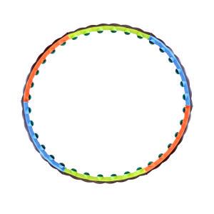 حلقه تناسب اندام اورانوس مدل PVCBumps01