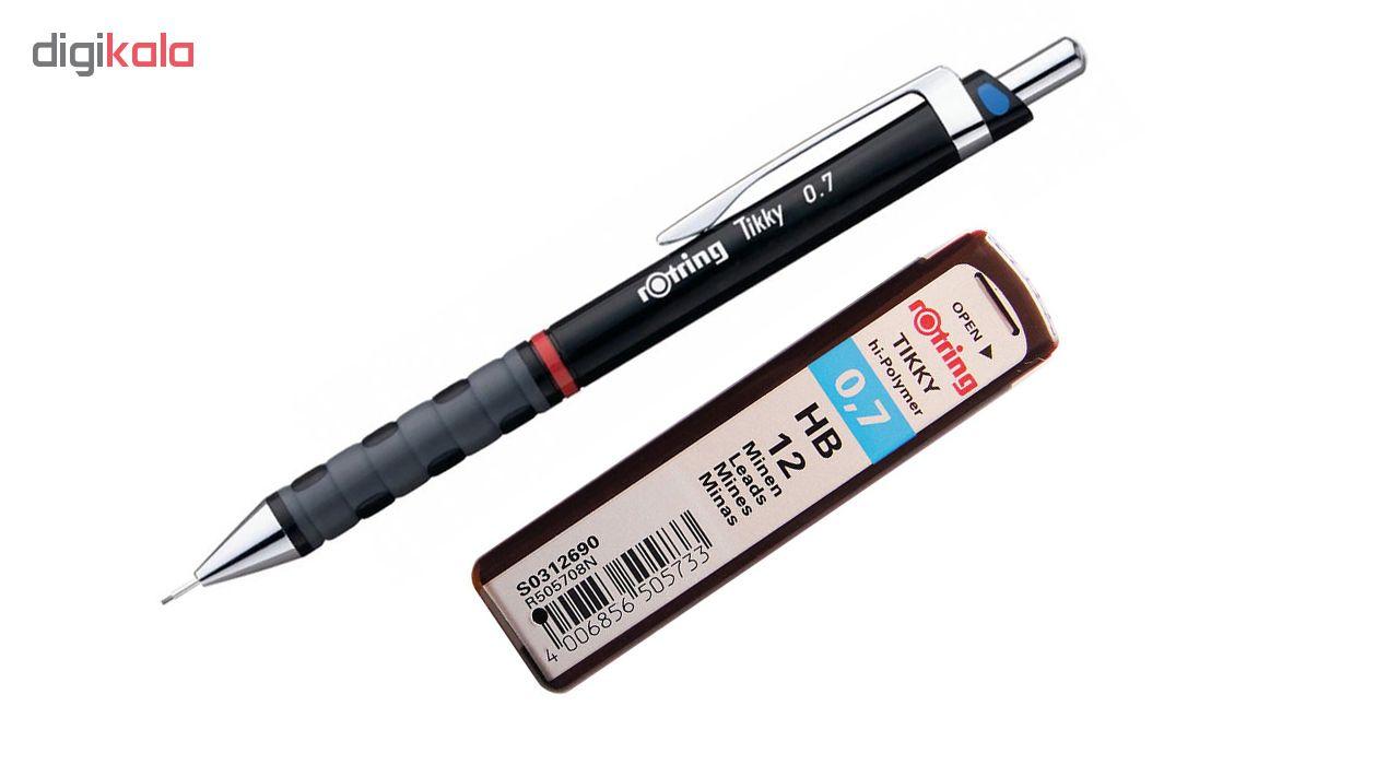 مداد نوکی 0.7 میلیمتری روترینگ مدل Tikky به همراه نوک 0.7 میلیمتری روترینگ
