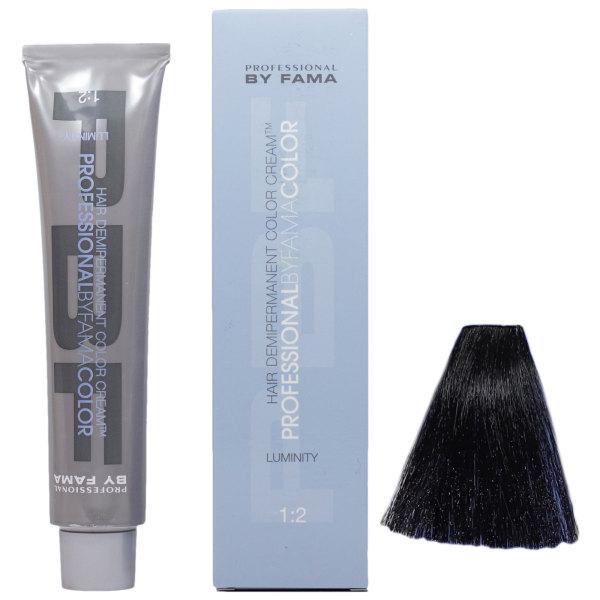 رنگ مو پروفشنال بای فاما سری لومینیتی شماره 1.9 حجم 80 میلی لیتر رنگ مشکی آبی