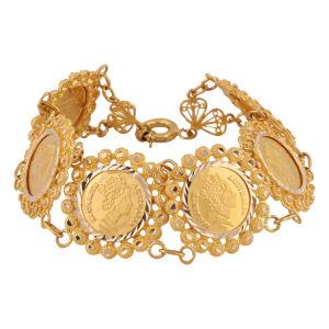 قیمت دستبند طلا 18 عیار گوی گالری مدل G241