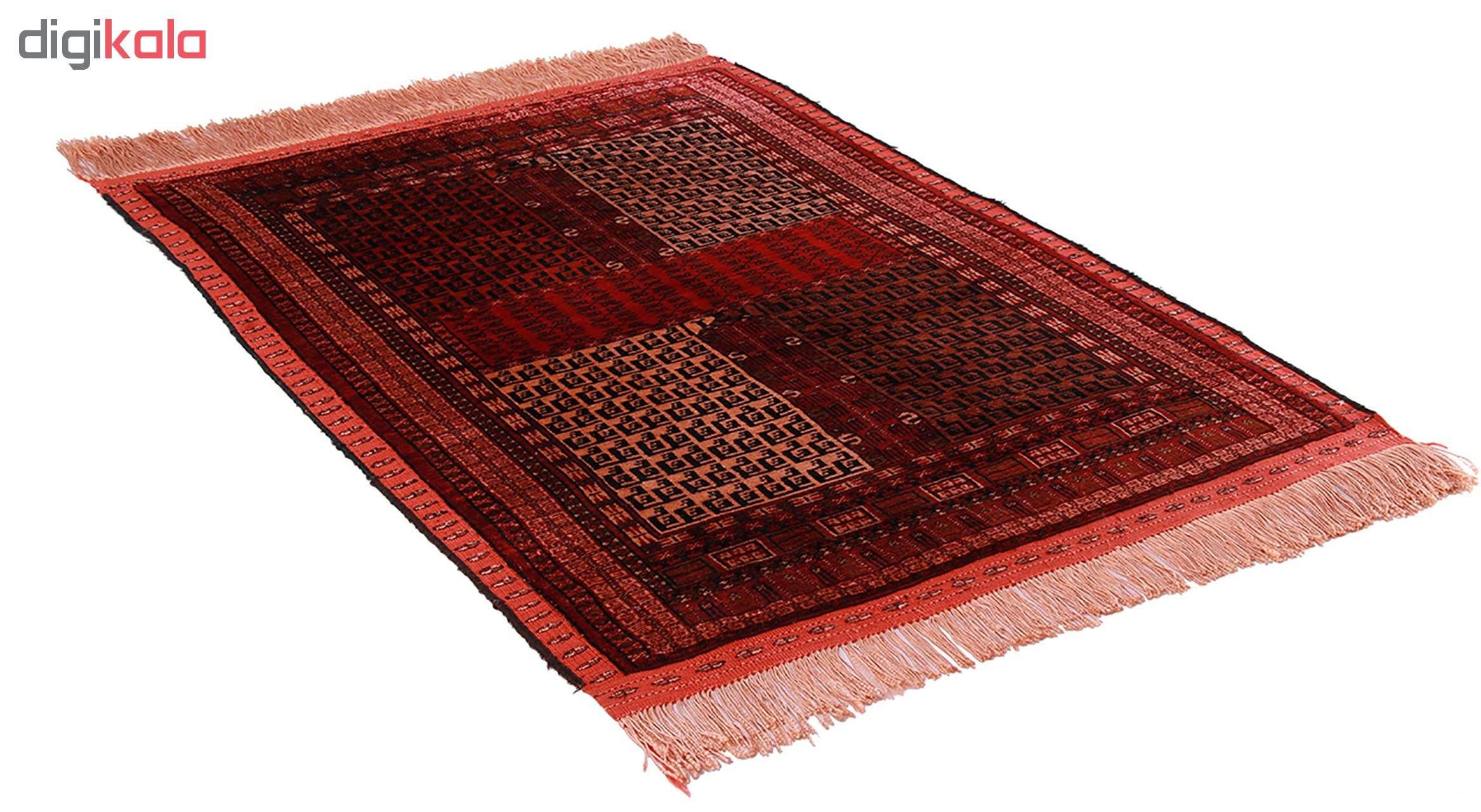 فرش دستبافت نیم متریتمام ابریشم دو رو طرح ترکمنکد 1701