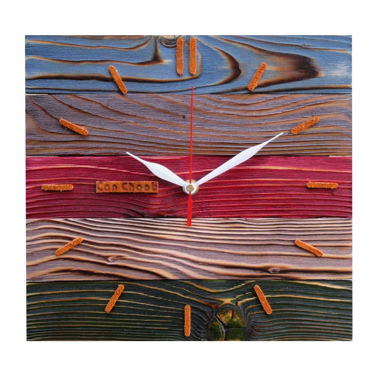 ساعت دیواری کن چوب مدل رویا