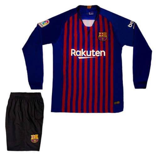 پیراهن و شورت ورزشی پسرانه طرح بارسلونا مدل KLO
