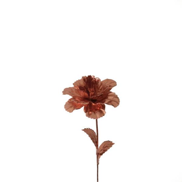 شاخه گل مصنوعي مسي مدل Rose-copper
