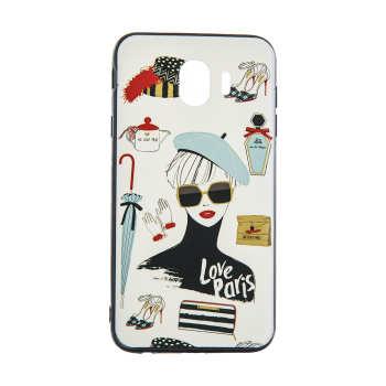 کاور مدل Beauty طرح Love Paris مناسب برای گوشی موبایل سامسونگ Galaxy J4 2018