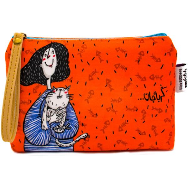 کیف لوازم آرایش هیدورا طرح گربه جان