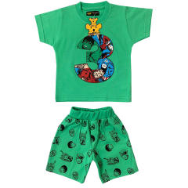 ست تی شرت و شلوارک پسرانه خرس کوچولو مدل 3 کد 01