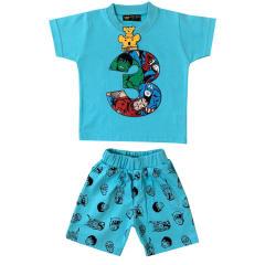 ست تی شرت و شلوارک پسرانه خرس کوچولو مدل 3 کد 04