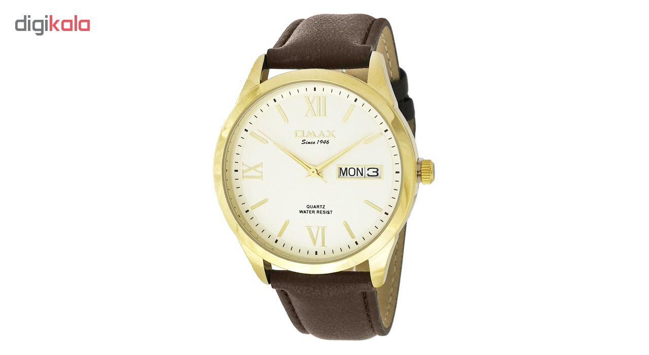خرید ساعت مچی عقربه ای مردانه اوماکس مدلgd05g35 به همراه دستمال مخصوص برند کلین واچ