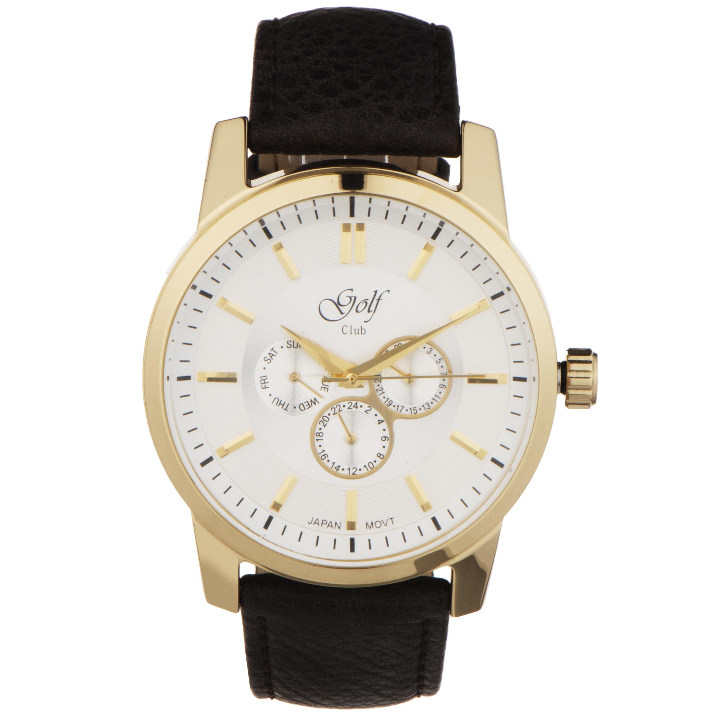 کد تخفیف                                      ساعت مچی عقربه ای مردانه گلف مدل 124-3