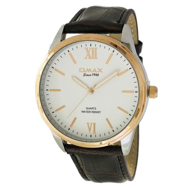 ساعت مچی عقربه ای مردانه اوماکس مدل jx03c35 به همراه دستمال مخصوص برند کلین واچ