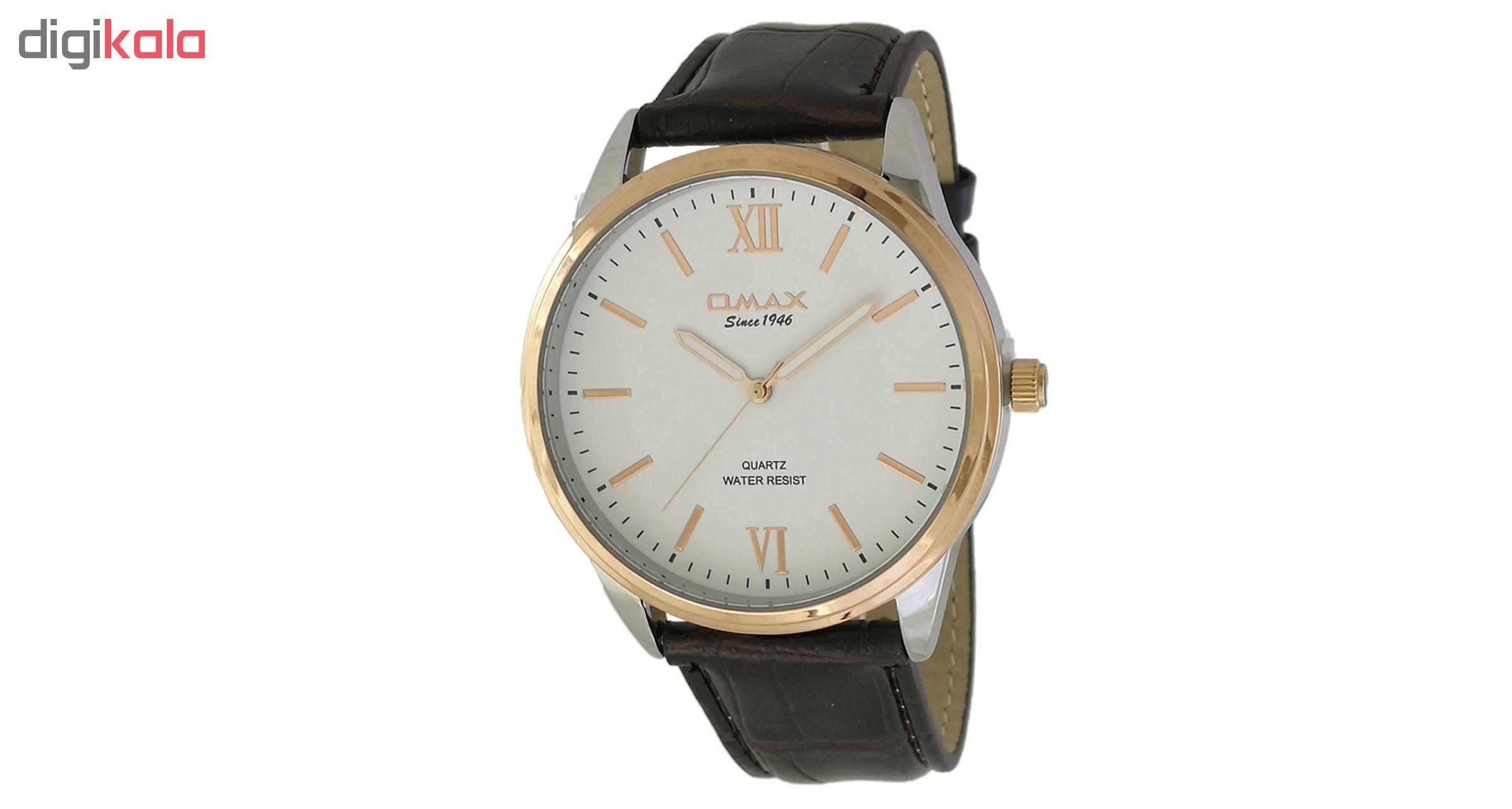 خرید ساعت مچی عقربه ای مردانه اوماکس مدل jx03c35 به همراه دستمال مخصوص برند کلین واچ