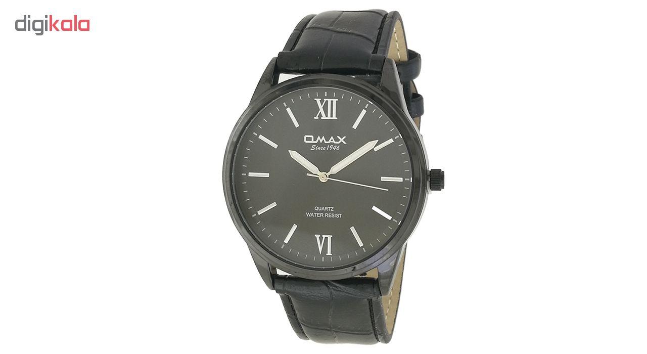 خرید ساعت مچی عقربه ای مردانه اوماکس مدل jx03m به همراه دستمال مخصوص برند کلین واچ
