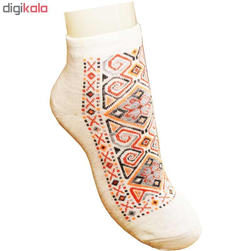 جوراب زنانه طرح سنتی کد 05 بسته 4 عددی -  - 3