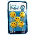 قلاب آویز حوله هومر طرح لبخند بسته 5 عددی thumb