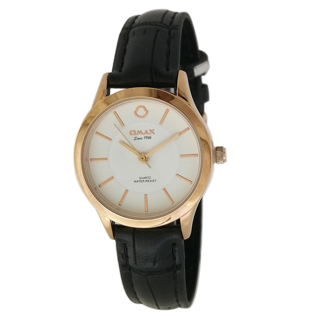 ساعت مچی عقربه ای زنانه اوماکس مدل pr00066 به همراه دستمال مخصوص برند کلین واچ 6