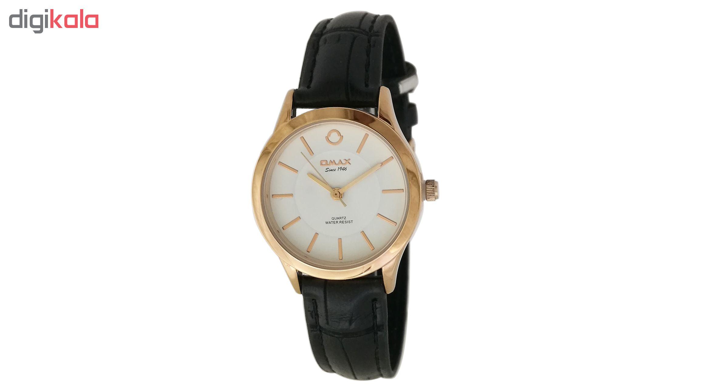 ساعت مچی عقربه ای زنانه اوماکس مدل pr00066 به همراه دستمال مخصوص برند کلین واچ