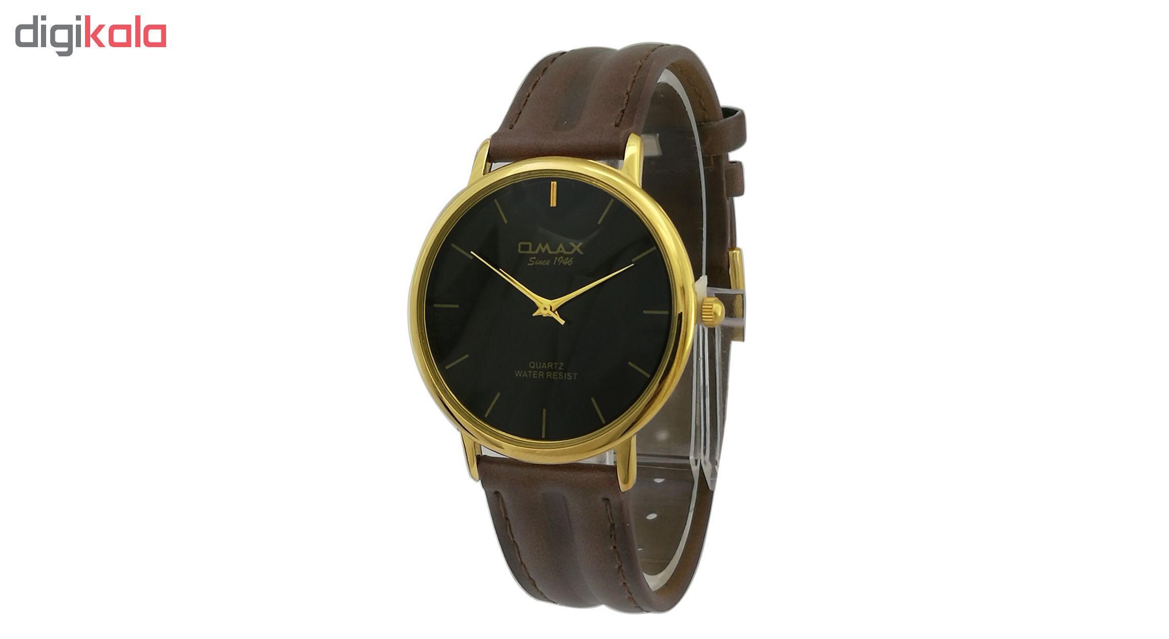 ساعت مچی عقربه ای مردانه اوماکس مدل sc7491g به همراه دستمال مخصوص برند کلین واچ