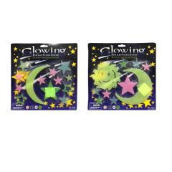 استیکر کودک طرح ماه و ستاره شب تاب مدل 004 مجموعه 24 عددی