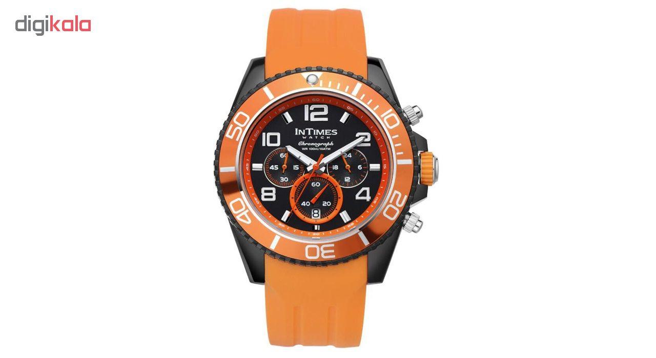 ساعت مچی عقربهای مردانه اینتایمز مدل IT-SD069.orange