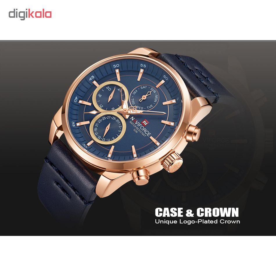 خرید                                     ساعت مچی عقربه ای مردانه نیوی فورس مدل NF9148M / SO -TA به همراه دستمال مخصوص نانو برند کلیر واچ