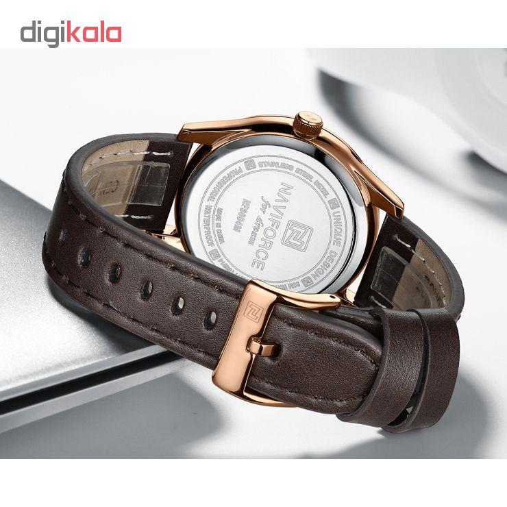 ساعت مچی عقربه ای مردانه نیوی فورس مدل NF3004M /GHA-TA به همراه دستمال مخصوص نانو برند کلیر واچ