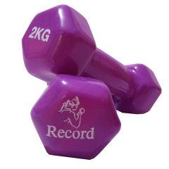 دمبل مدل رکورد 2 کیلوگرمی بسته 2 عددی