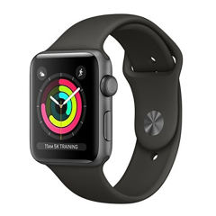 ساعت هوشمند اپل واچ 3 مدل 38mm Space Gray Aluminum Case with Gray Sport Band