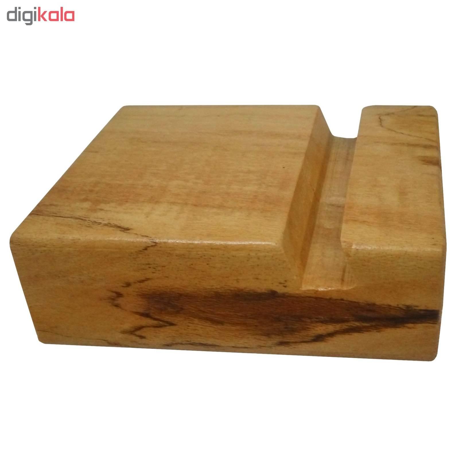 پایه نگهدارنده گوشی موبایل استند تبلت چوبی چوبیس کد 1-351 main 1 6