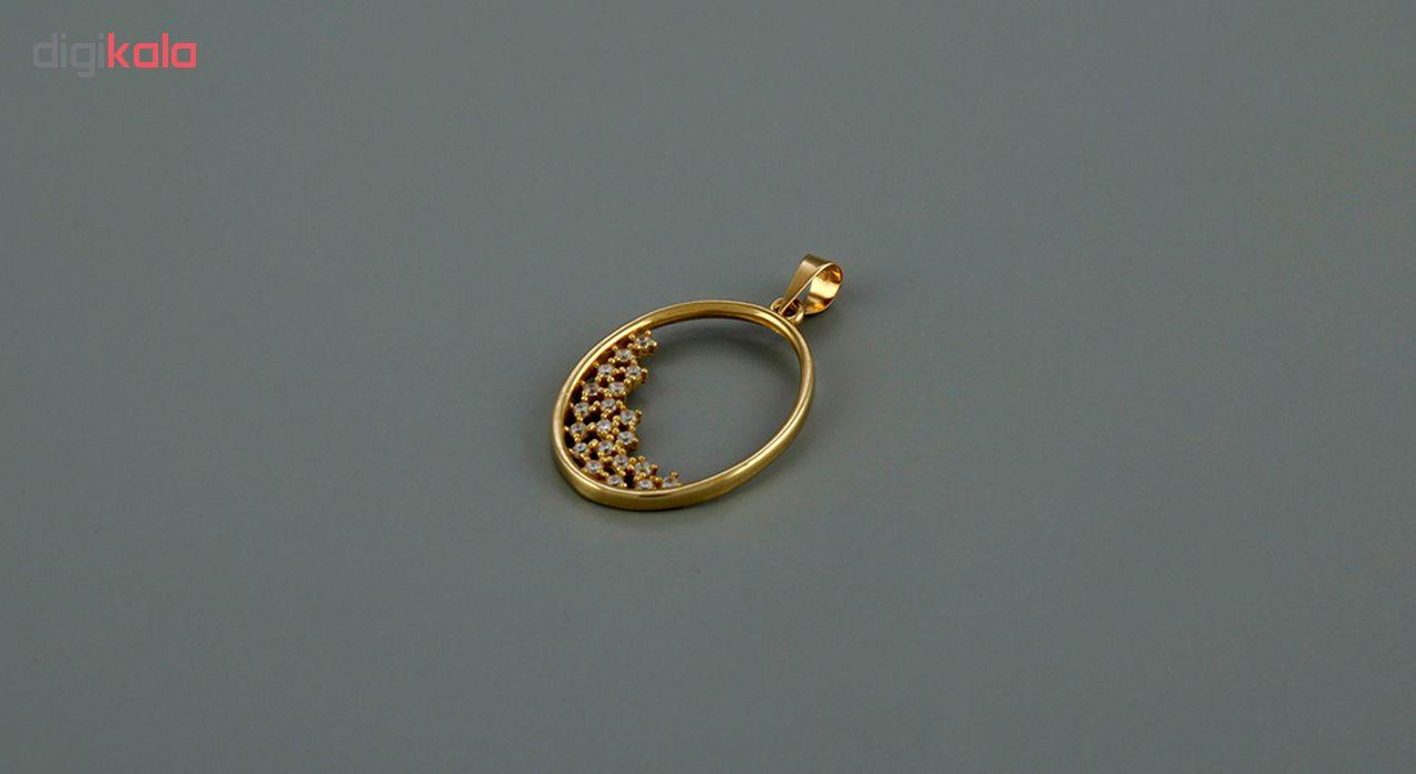 نیم ست طلا 18 عیار جواهری سون مدل 2144