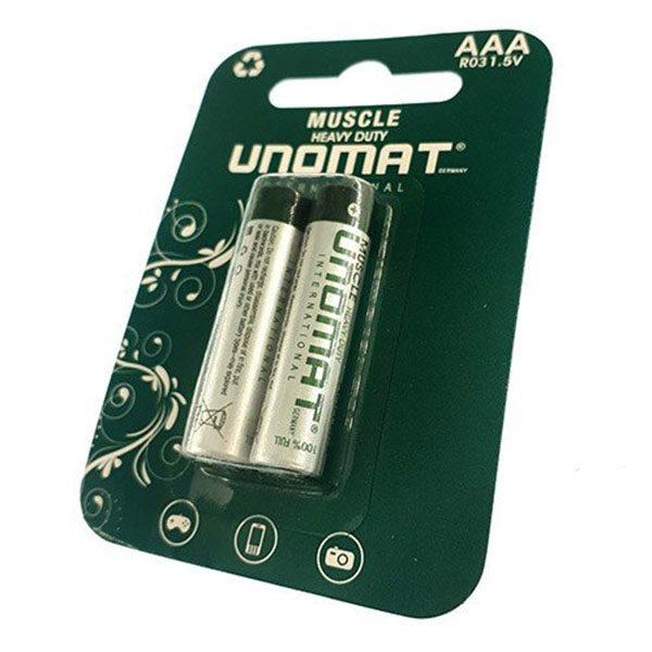 باتری نیم قلمی یونومات مدل Muscle Heavy Duty بسته دو عددی