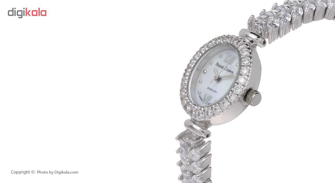 ساعت مچی عقربه ای نقره زنانه رویال کرون مدل RC1516-1