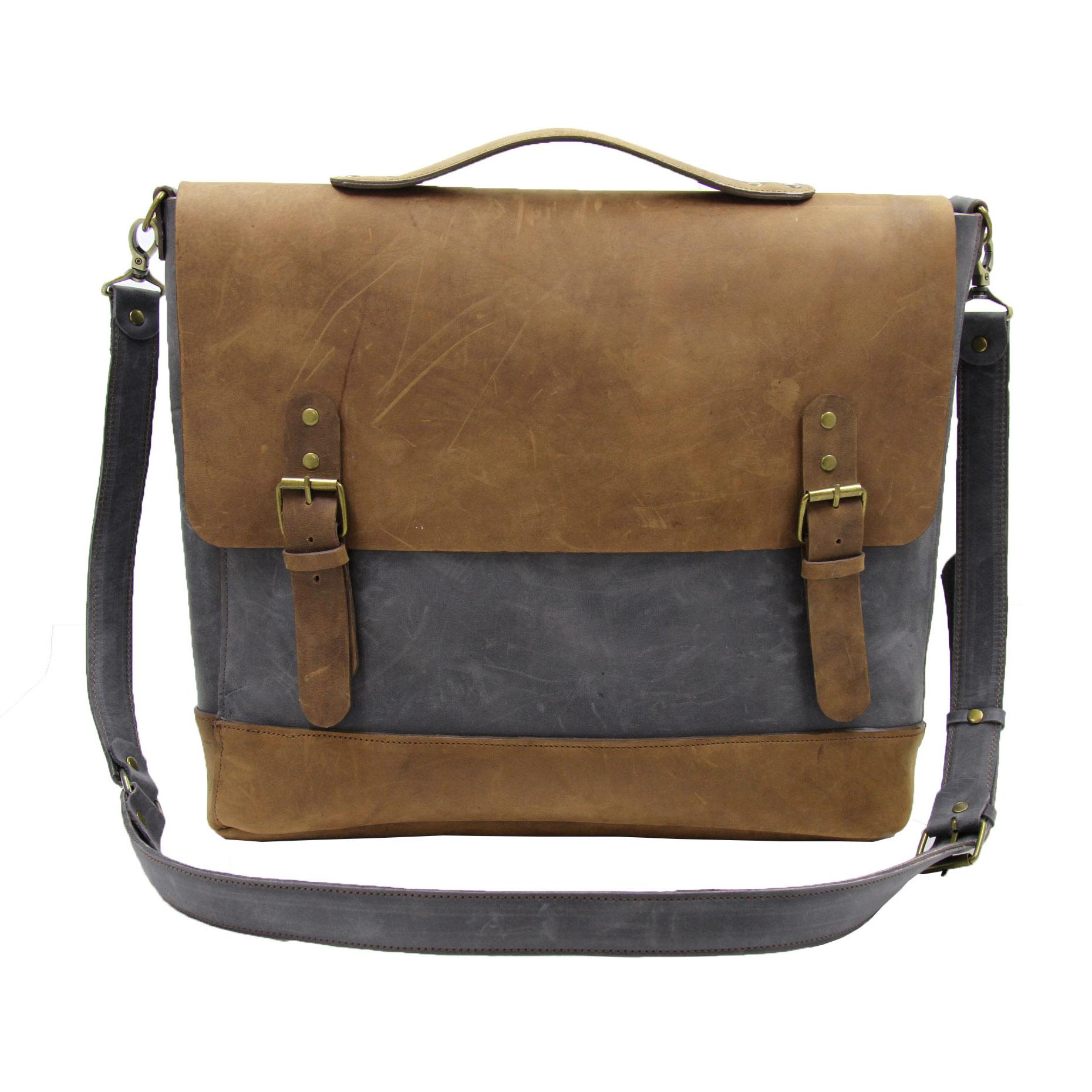 قیمت کیف دوشی مردانه چرم لانکا مدل SBL-14