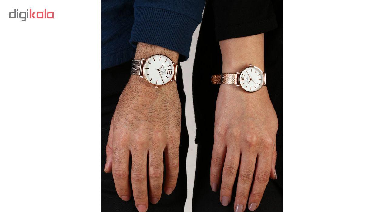 ست ساعت مچی عقربه ای زنانه و مردانه مدل D-MW-RG