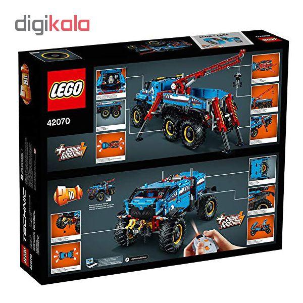 لگو سری technic مدل 6x6 All Terrain Tow Truck کد 42070