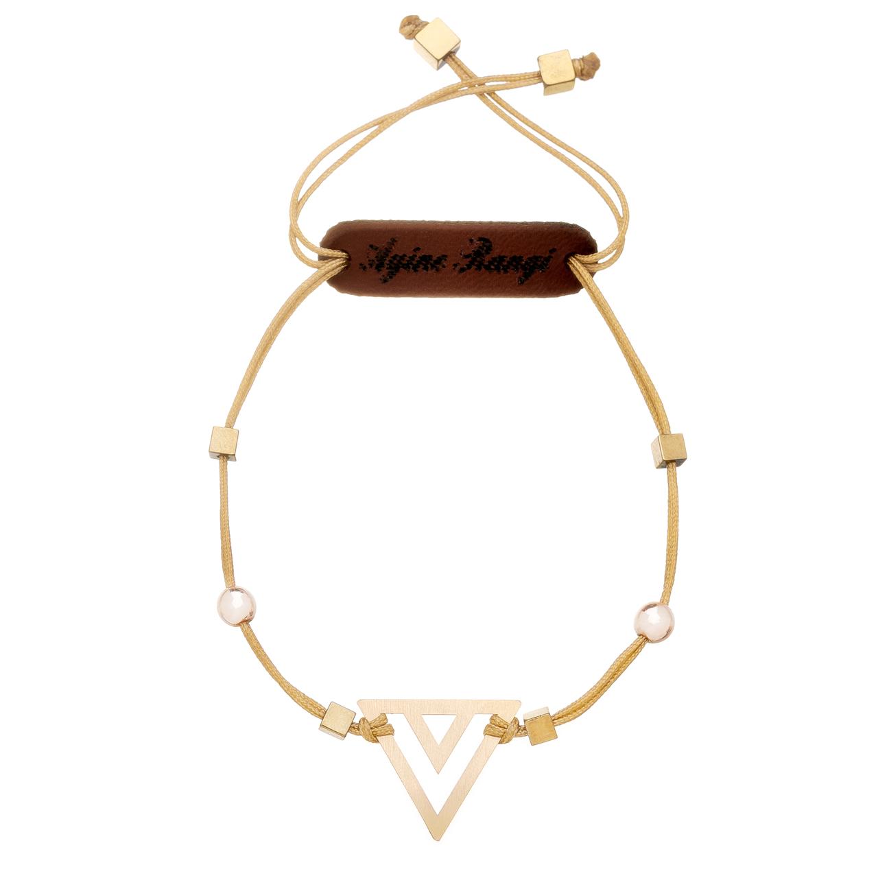 دستبند طلا 18 عیار آیینه رنگی طرح مثلث کد AR-H02