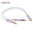 مبدل 1 به 2 کابل انتقال صدا 3.5 میلی متری مدل BAMA154 thumb 1