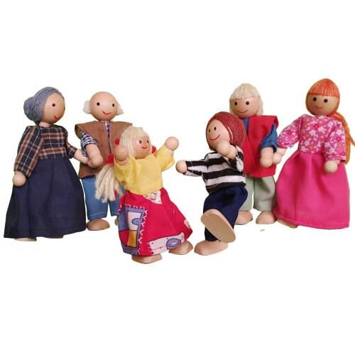 عروسک طرح خانواده عروسکی بسته 6 عددی