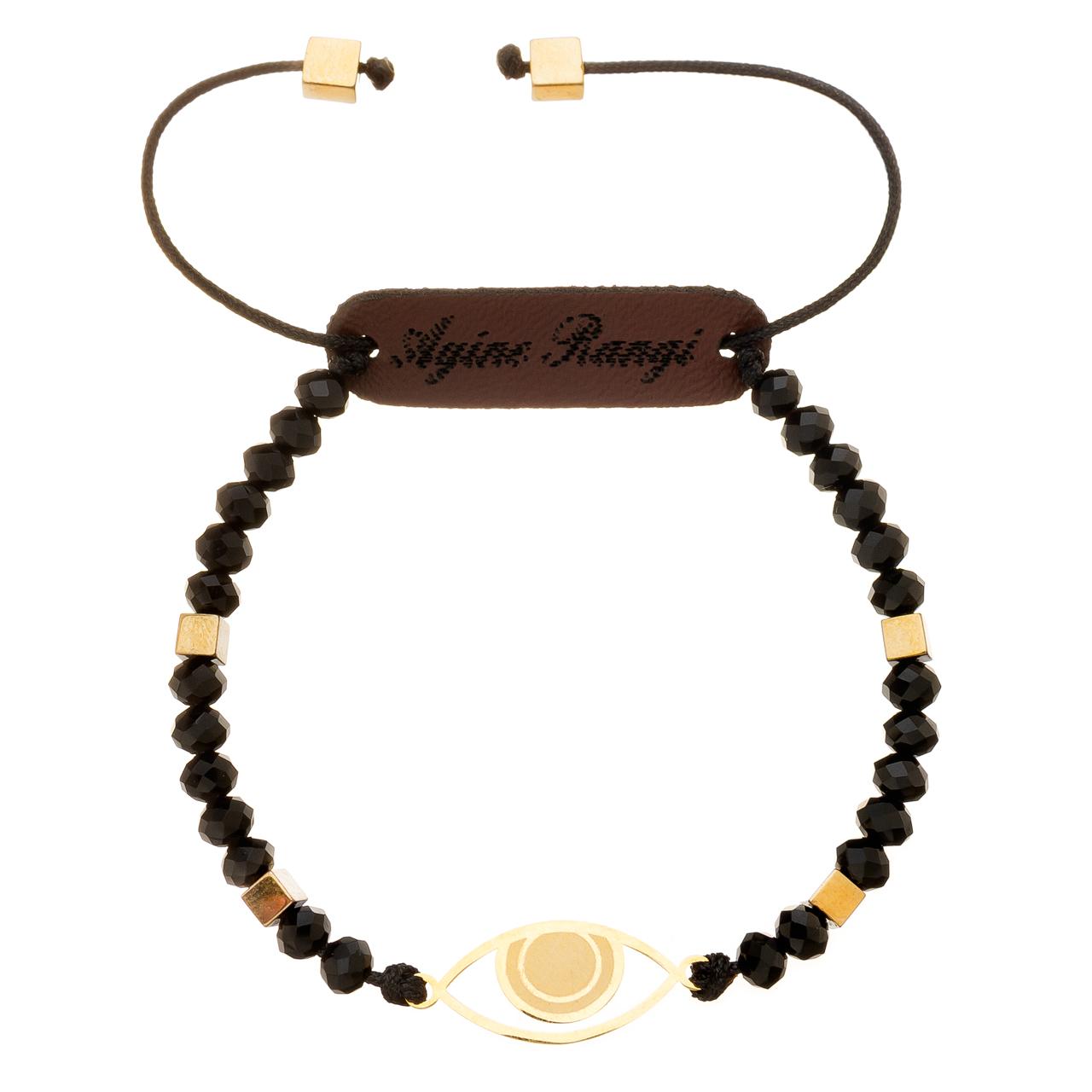 دستبند طلا 18 عیار آیینه رنگی طرح چشم کد AR-M05