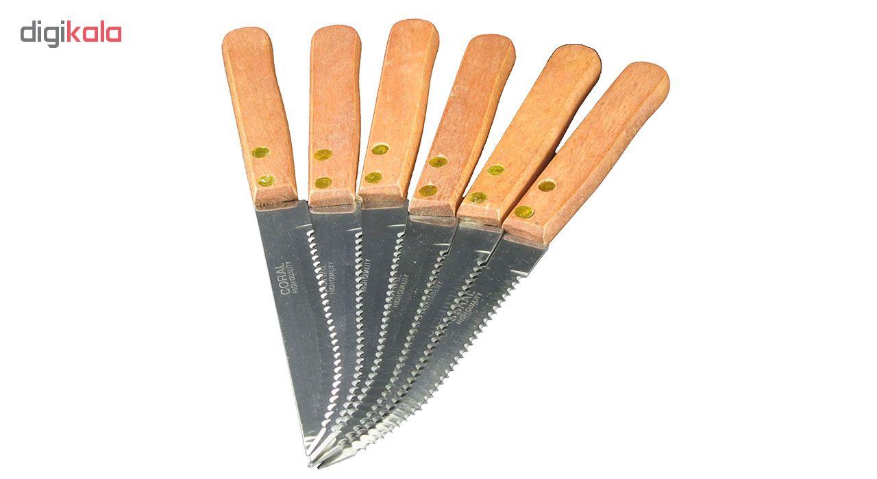 چاقو کرال مدل SAW11  بسته 6 عددی